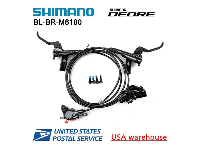 Deore Arka Disc Brake Set Rear Black M615 Deore 1700mm BH90
